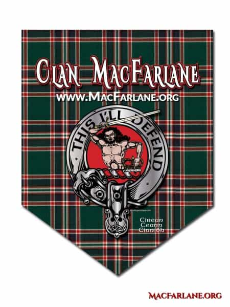 Clan MacFarlane Crest Badge Parade Banner
