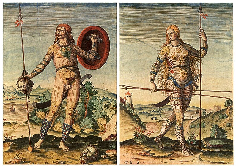 Male and Female Pictish- Warriors