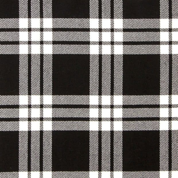 MacFarlane Black and White Tartan