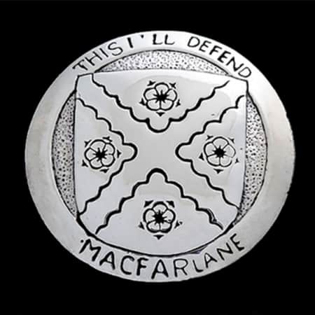Clan MacFarlane Heraldic Pendant created for International Clan MacFarlane Society Inc's fundraising drive benefiting Clan MacFarlane Charitable Trust.