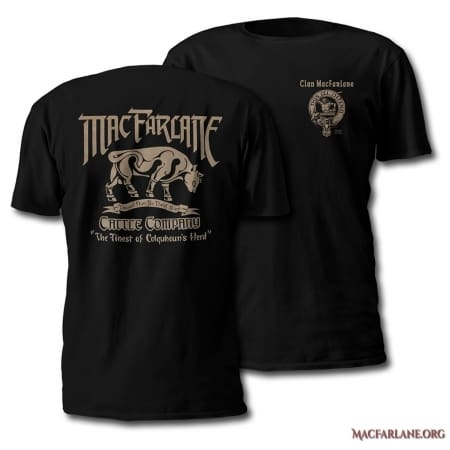 MacFarlane Cattle Company Tshirt - Men's Short Sleeve - art by Maxine Miller - ©celticjackalope.com