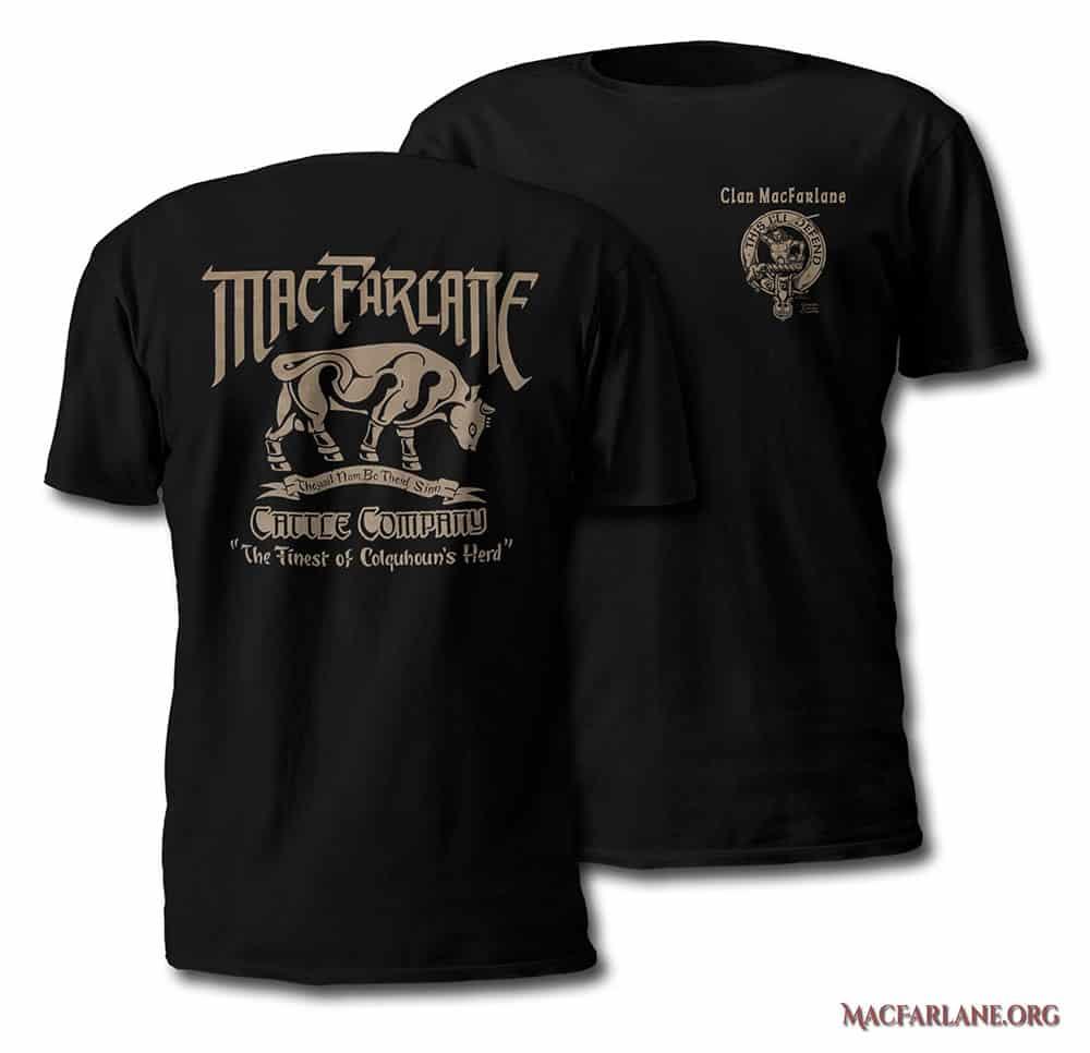 MacFarlane Cattle Company Tshirt - Men's Short Sleeve - art by Maxine Miller - ©celticjackalope.com