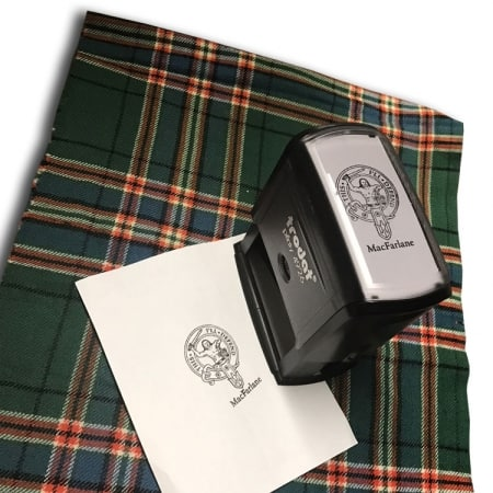 Clan MacFarlane self-inking stamp