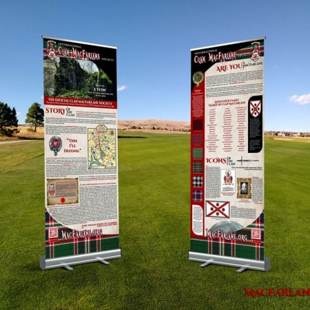 Clan MacFarlane Retractable Banners with Stands